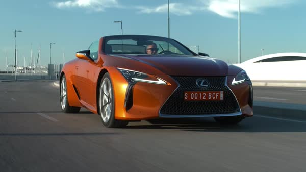 2021 Lexus LC500 Convertible Footage