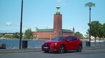 LEXUS UX 250h F SPORT RED FOOTAGE