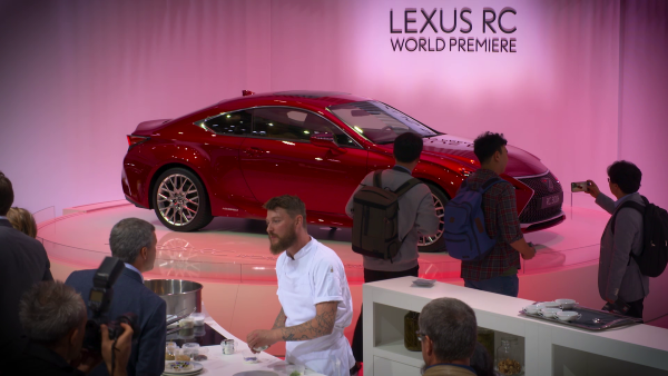 Lexus RC 300 at 2018 Paris Motor Show  in imaginative #SharpYetSmooth activation